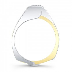 White & Yellow Gold Princess Cut Bridal Set 8070STY Profile