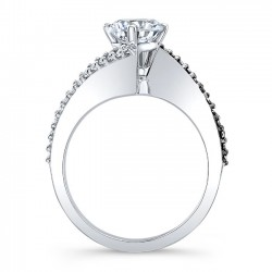 Bypass Black Diamond Engagement Ring 8073LBK Profile
