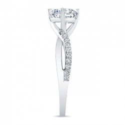 White Gold Engagement Ring 8077L SIde