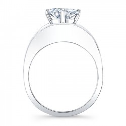 White Gold Solitaire Engagement Ring 8085L Profile
