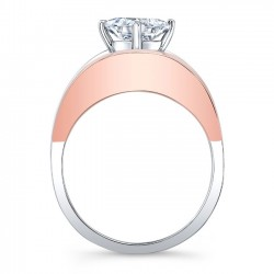 Rose & White Gold Solitaire Engagement Ring 8085LTRV Profile
