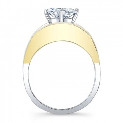 Yellow & White Gold Solitaire Engagement Ring 8085LTYRV Profile