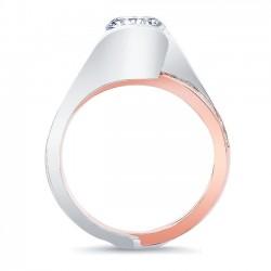 White & Rose Gold Bridal Set 8092ST Profile