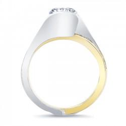 White & Yellow Gold Bridal Set 8092STY Profile