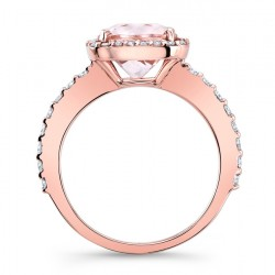 Morganite Engagement Ring MOC-8025LP Profile