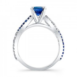 Blue Sapphire Engagement Ring BC-7714LBS Profile
