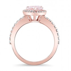 Morganite Engagement Ring  MOC-7994LP Profile