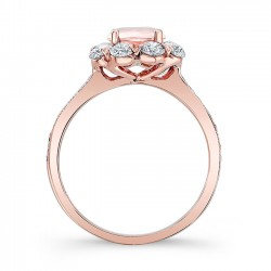 Morganite Engagement Ring MOC-7661LP profile
