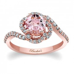 Morganite Engagement Ring MOC-7982LP