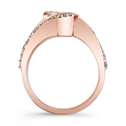 Morganite Engagement Ring MOC-8007LP Profile
