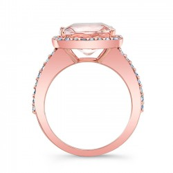 Morganite Engagement Ring MOC-8045LP Profile
