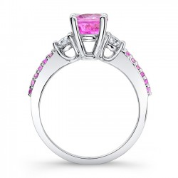 Pink Sapphire Engagement Ring PSC-7539LPS Profile