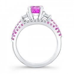 Pink Sapphire Bridal Set PSC-7539SPS Profile