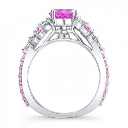 Pink Sapphire Engagement Ring PSC-7932LPS Profile