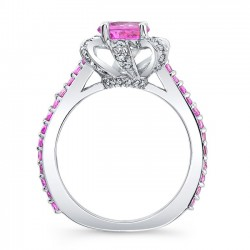 Pink Sapphire Engagement Ring PSC-7958LPS Profile