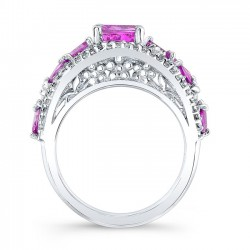 Pink Sapphire Engagement Ring PSC-7984LPS Profile