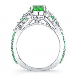 Tsavorite Engagement Ring TC-7932LTSV Profile