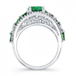 Tsavorite Engagement Ring TC-7984LTSV Profile