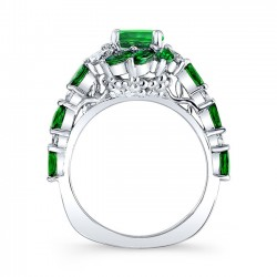 Tsavorite Engagement Ring TC-7992LTSV Profile