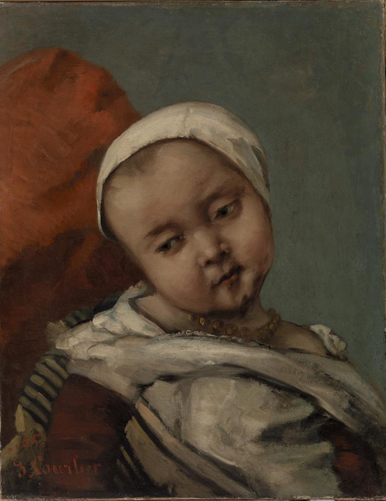Barnes Collection Online — Gustave Courbet: Head of Baby (Tête d\'enfant)