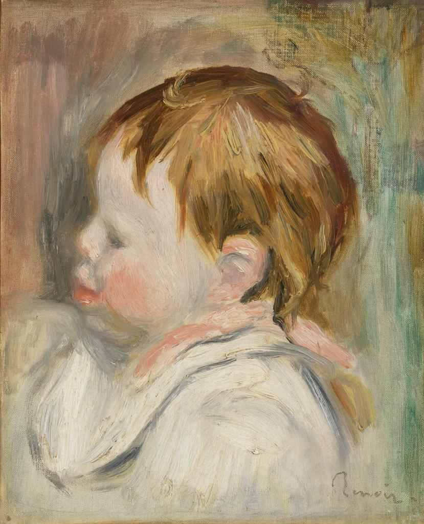 Barnes Collection Online — Pierre-Auguste Renoir: Baby\'s Head (Tête ...