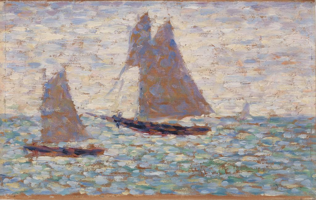 Two Sailboats at Grandcamp (Deux voiliers à Grandcamp)