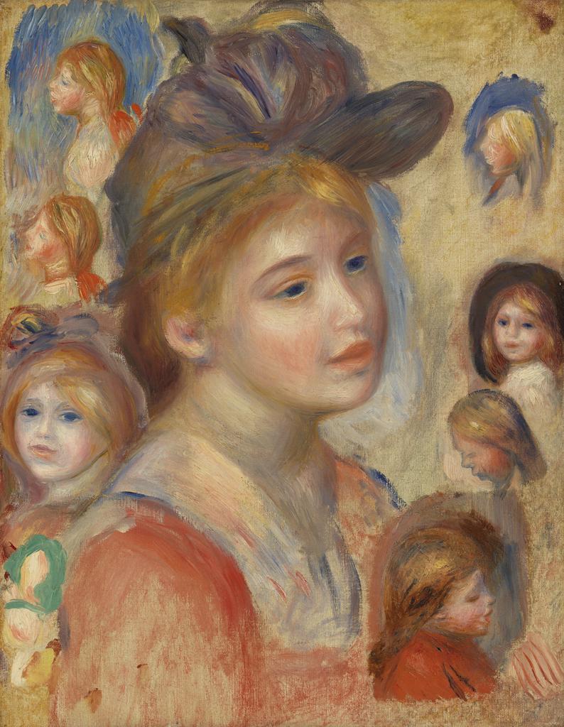 Study of Girls' Heads (Étude de têtes de jeunes filles)
