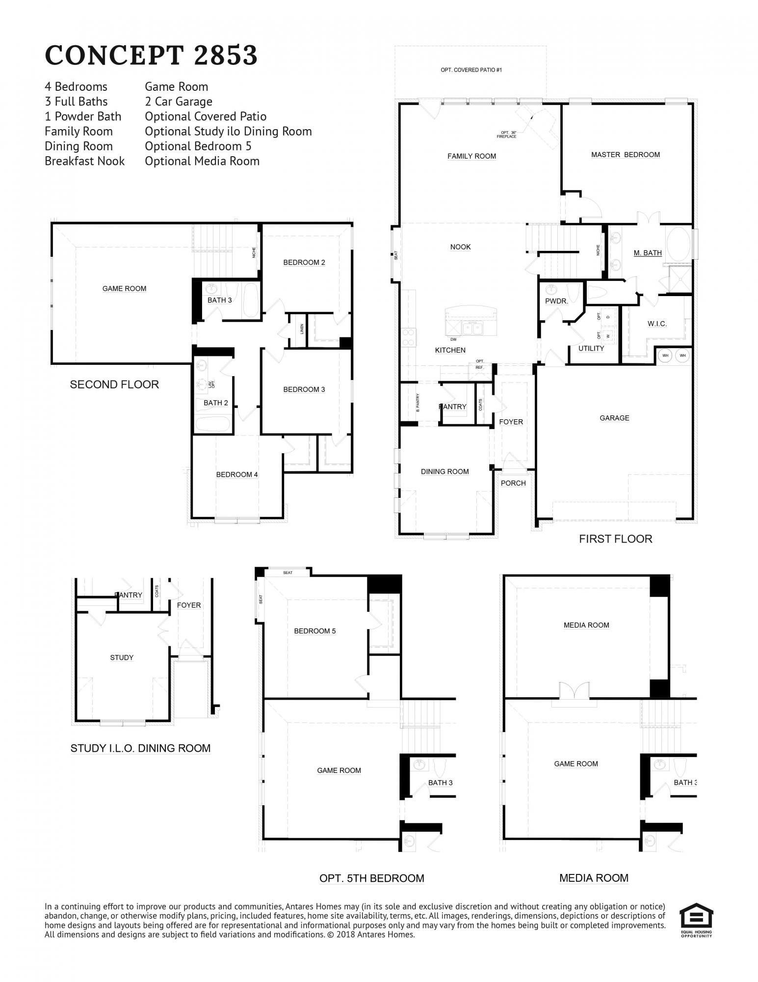 Concept 2853 Floorplan
