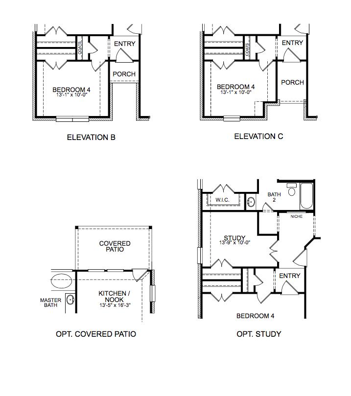 1758 Floor Plan Options