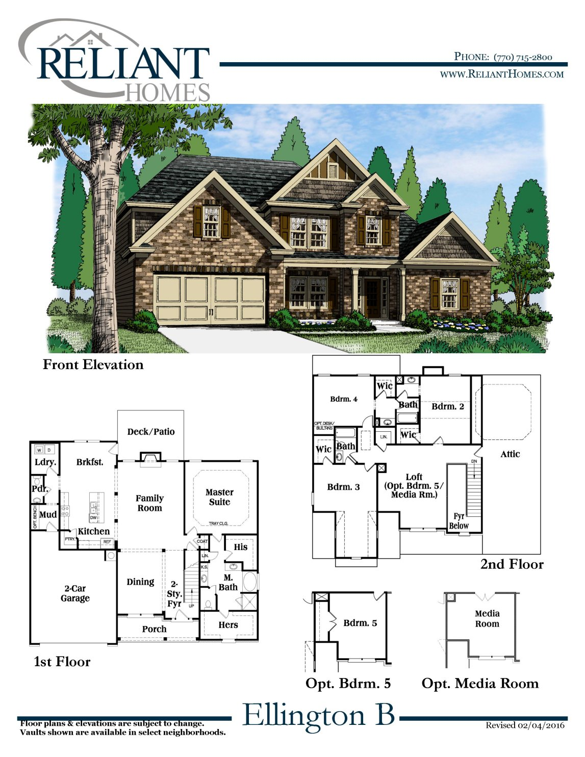 Ellington b fe reliant homes new homes in atlanta for Reliant homes floor plans