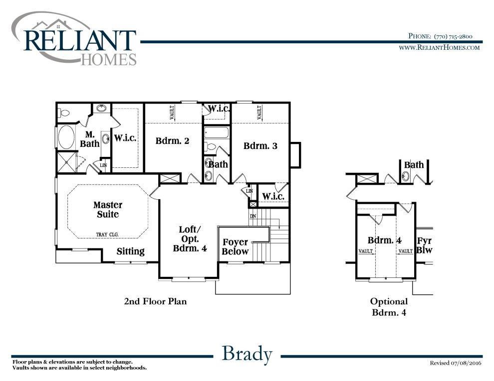 Brady B Fe Reliant Homes New Homes In Atlanta