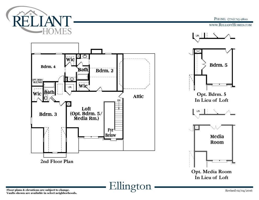 Ellington a fe reliant homes new homes in atlanta for Reliant homes floor plans