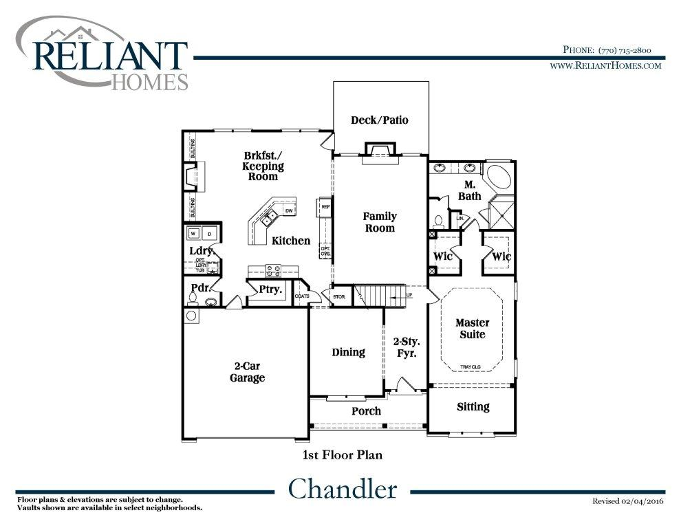Chandler b fe reliant homes new homes in atlanta for Reliant homes floor plans