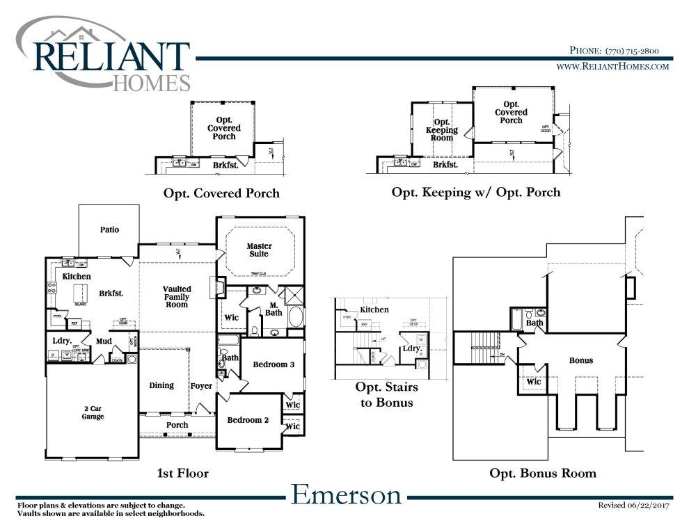 Emerson ranch a se reliant homes new homes in atlanta for Reliant homes floor plans