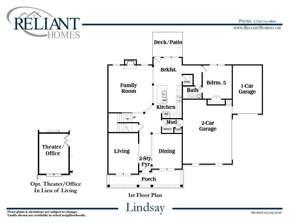 Lindsay b se reliant homes new homes in atlanta for Reliant homes floor plans