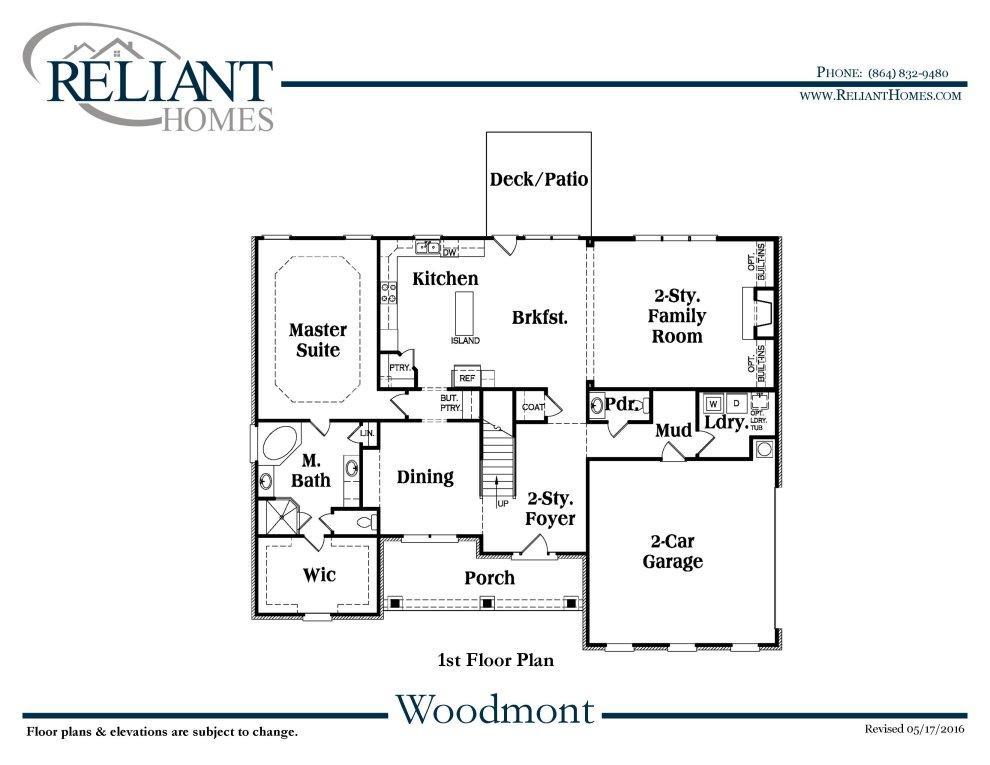 Sc woodmont b 1 reliant homes new homes in atlanta for Reliant homes floor plans
