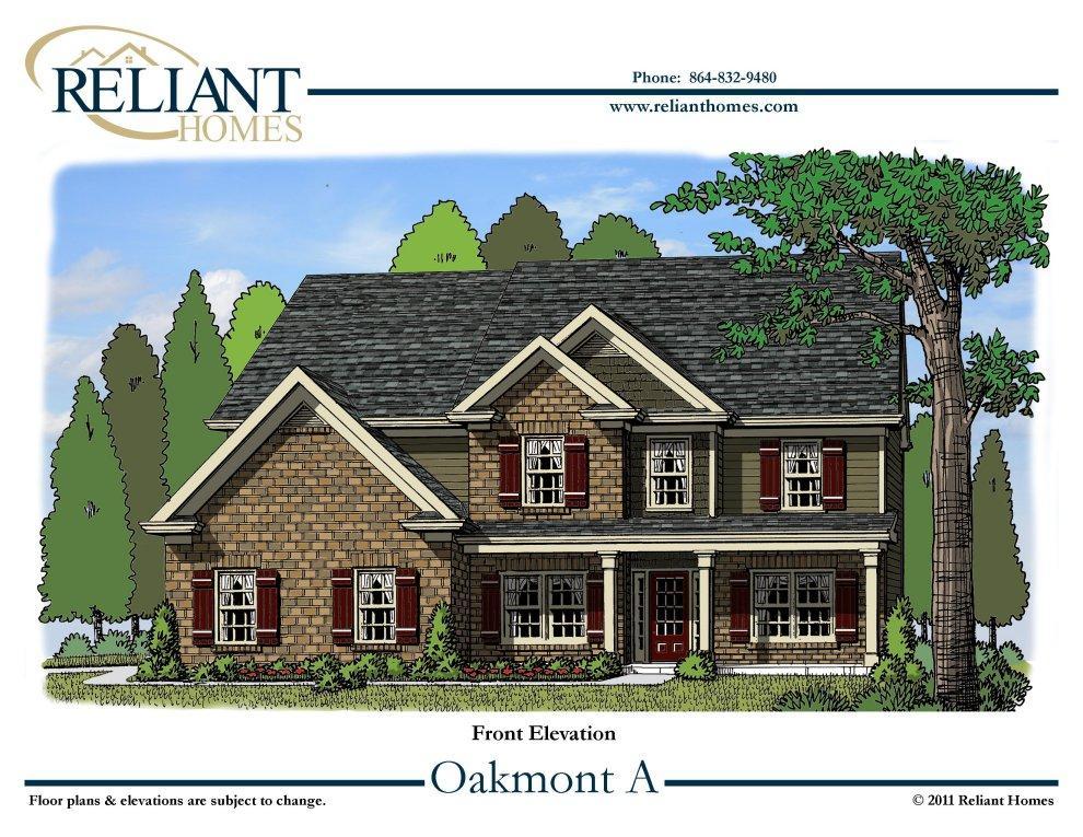Sc oakmont a reliant homes new homes in atlanta for Oakmont home builders