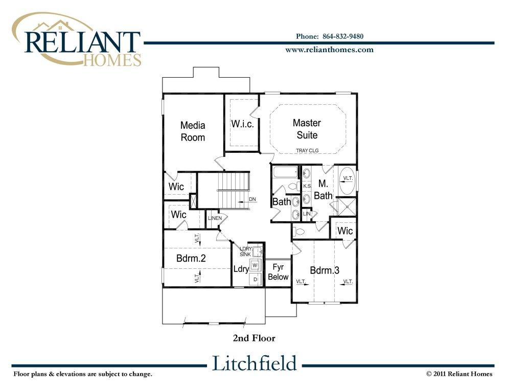 Sc litchfield reliant homes new homes in atlanta for Reliant homes floor plans
