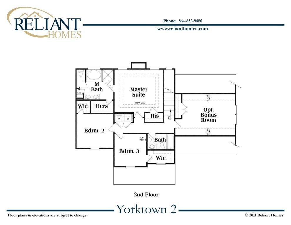 Sc yorktown 2 reliant homes new homes in atlanta for Reliant homes floor plans