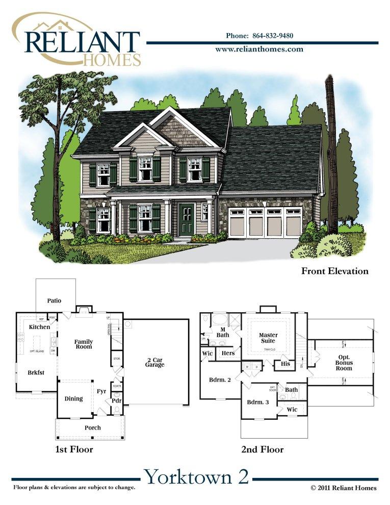 Sc Yorktown 2 Reliant Homes New Homes In Atlanta