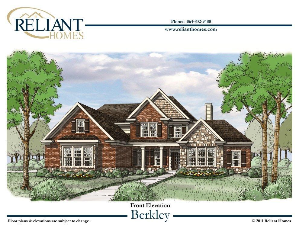 Berkley front sc for Reliant homes floor plans