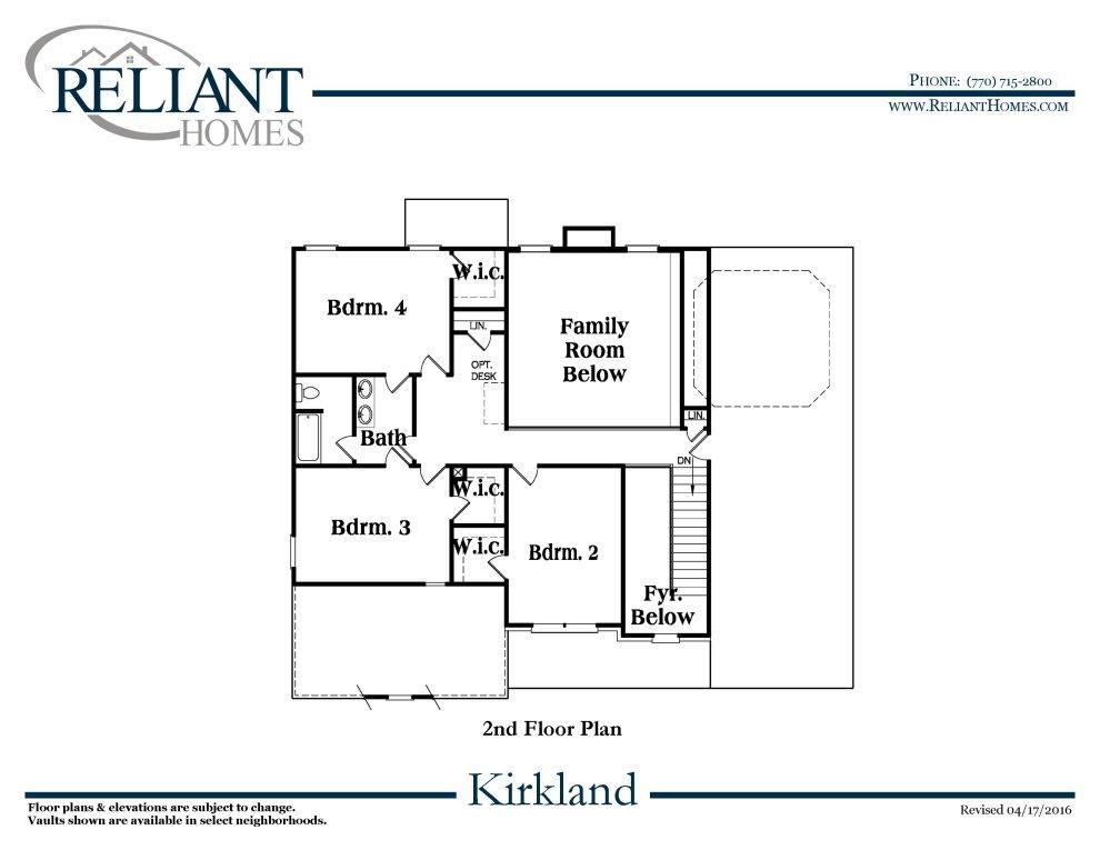 Kirkland b se reliant homes new homes in atlanta for Reliant homes floor plans