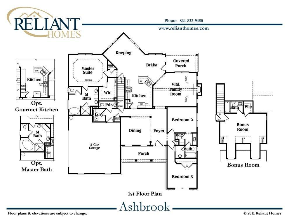 Floor plans for Reliant homes floor plans