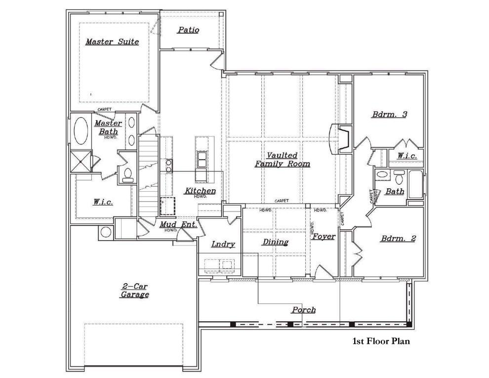 Rosewood b fe reliant homes new homes in atlanta for Reliant homes floor plans