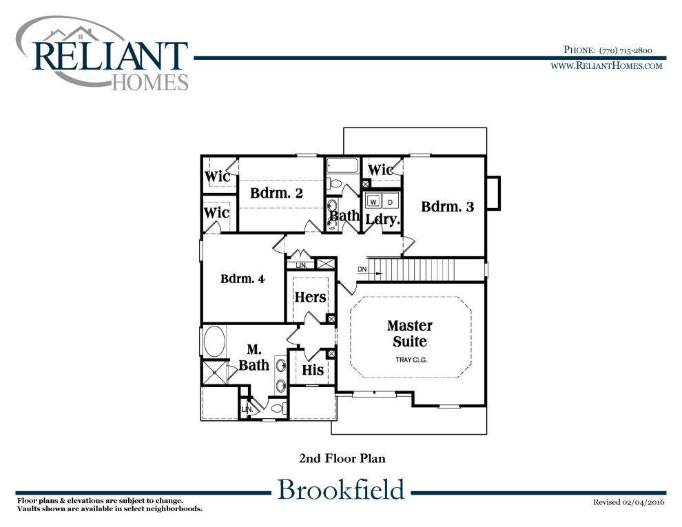 Brookfield B Fe Reliant Homes New Homes In Atlanta