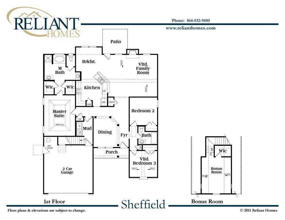 Sheffield Floor Plan Pollard Road