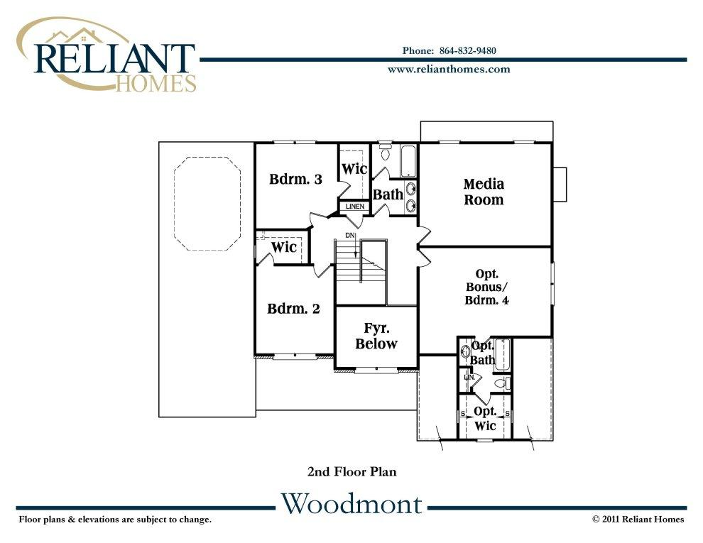 Sc woodmont b reliant homes new homes in atlanta for Reliant homes floor plans