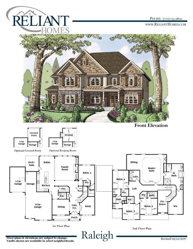 Floor plan mortgage calculator for Reliant homes floor plans