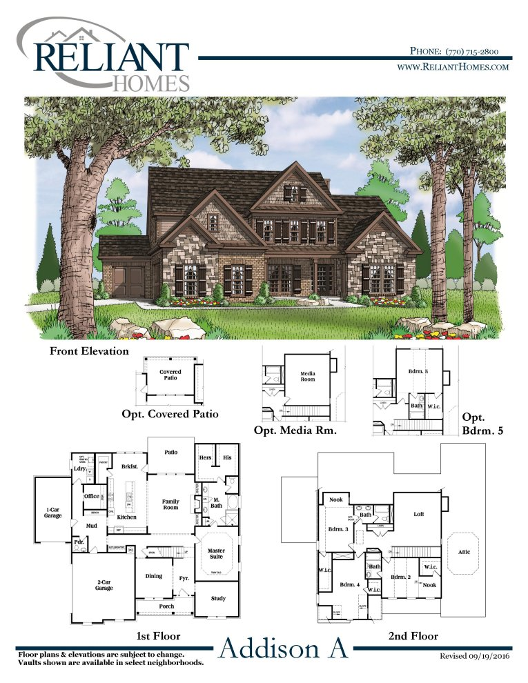 Addison a se reliant homes new homes in atlanta for Reliant homes floor plans
