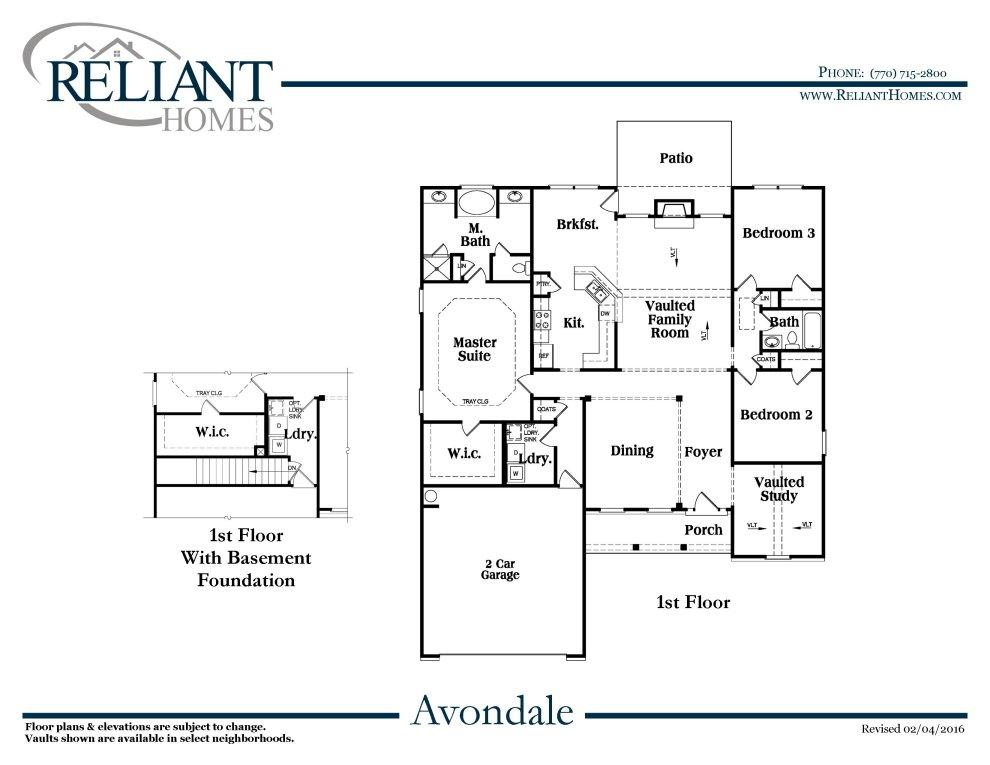 Avondale a fe reliant homes new homes in atlanta Avondale house plan
